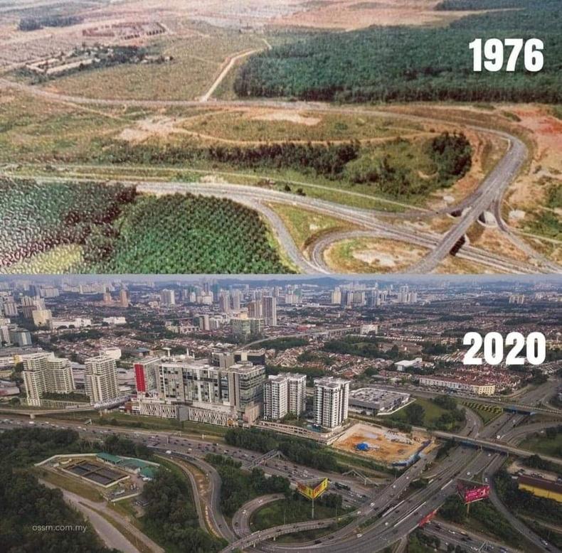 Малайзын Субанг Жаяа хот 44 жилийн дотор ингэж өөрчлөгджээ
