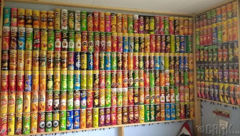"""""""Pringles""""-ийн бүх төрлийг цуглуулсан нь"""