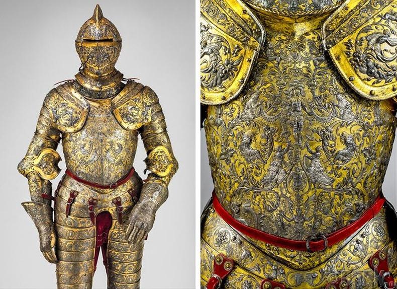 Францын 1555 оны хаан Генрих II-ын хааны хуяг