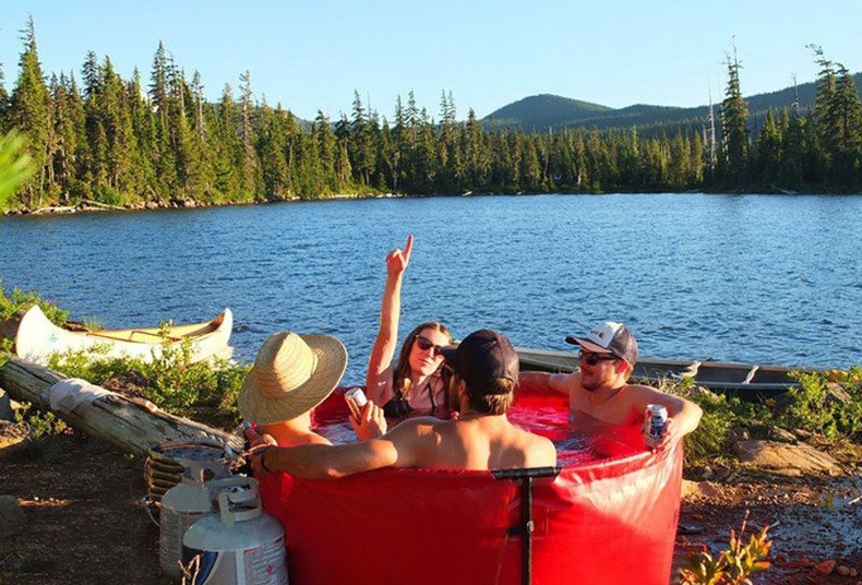 Аялалын эвхэгддэг халуун ванн