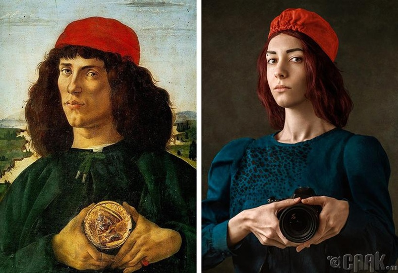 """Сандро Ботичелли (Sandro Botticelli) - """"Үл таних залуугийн хөрөг"""""""