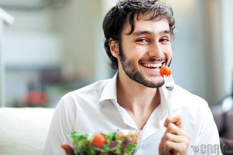 Зөв хоолны дэглэм баримтлах