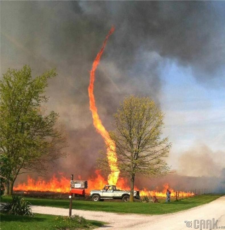 Түймрийн үед хар салхи дэгдсэн нь