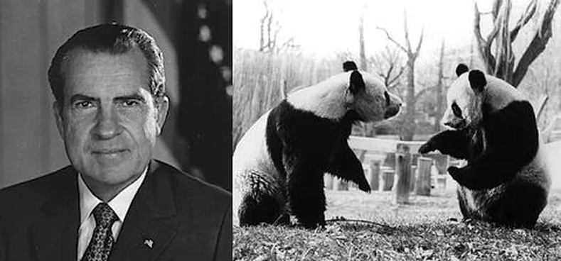 Ричард Никсон ба панда