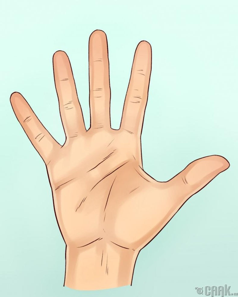 Хуруунуудын дундах зайг анхаараарай