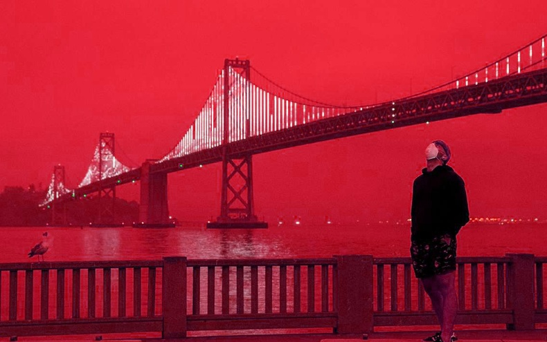 """Америкийн тэнгэр """"цусан улаан"""" болов (30 фото)"""