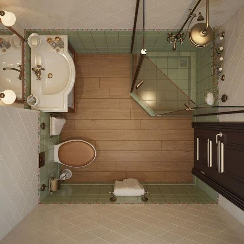 Ретро дизайн жижиг угаалгын өрөөг ч дээд зэрэглэлийн харагдуулж чадна