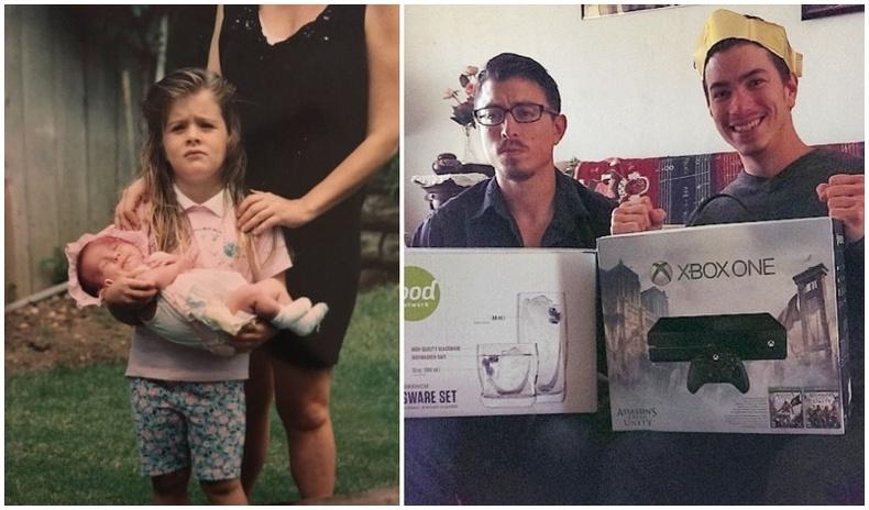 Ах, эгчтэйгээ хамт өсөх ямар байдгийг гэрчлэх хөгжилтэй зургууд
