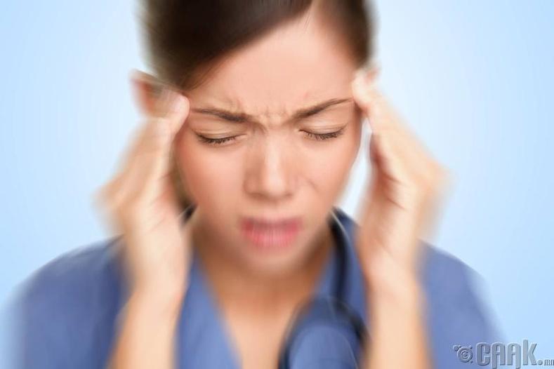 Тархи дэлбэрэх гэж байгаа мэт өвдөх