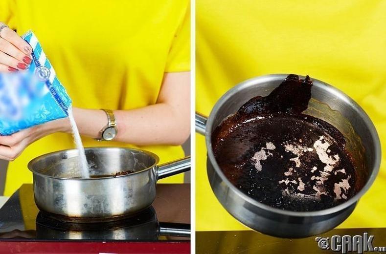 Түлэгдсэн саванд халуун ус хийж хонуулах