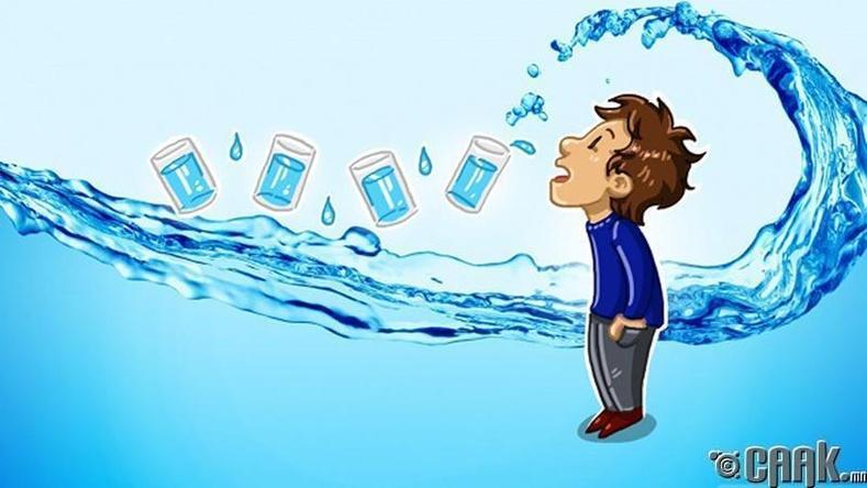 Таны биед хэдий хэмжээний ус хэрэгтэй вэ?