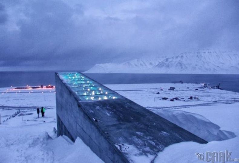 """""""Svalbard""""-ийн олон улсын үр хадгалах зоорь, Норвеги"""