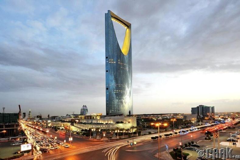 """Эр-Рияд дахь """"Kingdom Center"""" тэнгэр баганадсан барилга"""