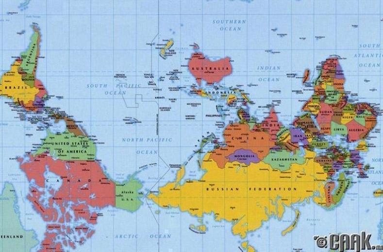 Австралийн газрын зургийг харж төөрөлдөх