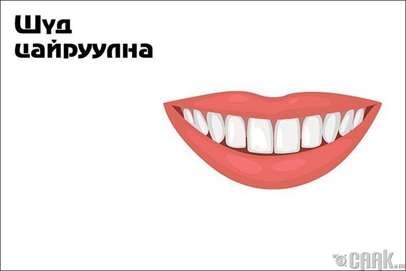 Шүд цайруулна