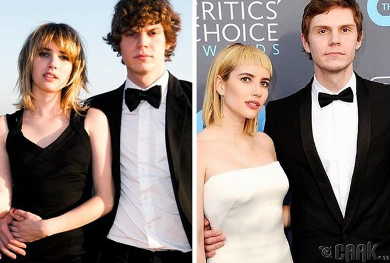 Эван Петерс болон Эмма Роберт (Evan Peters, Emma Roberts)