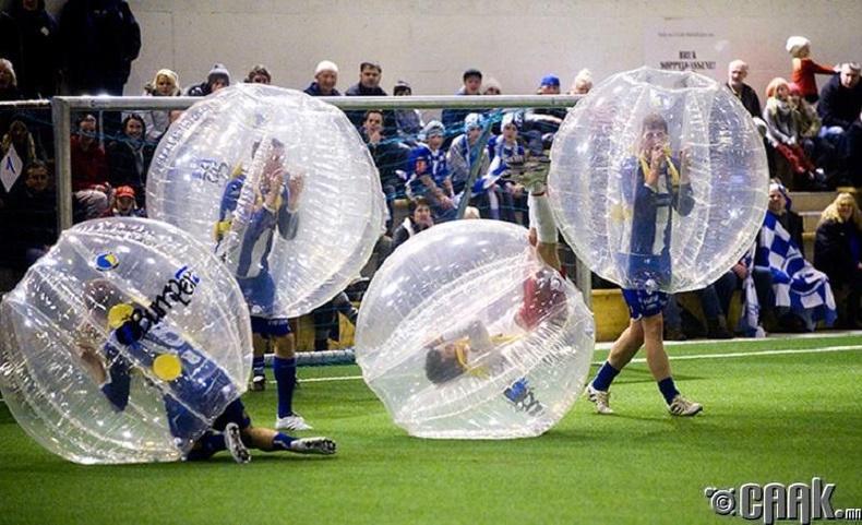 Хийлсэн бөмбөгтэй хөл бөмбөг