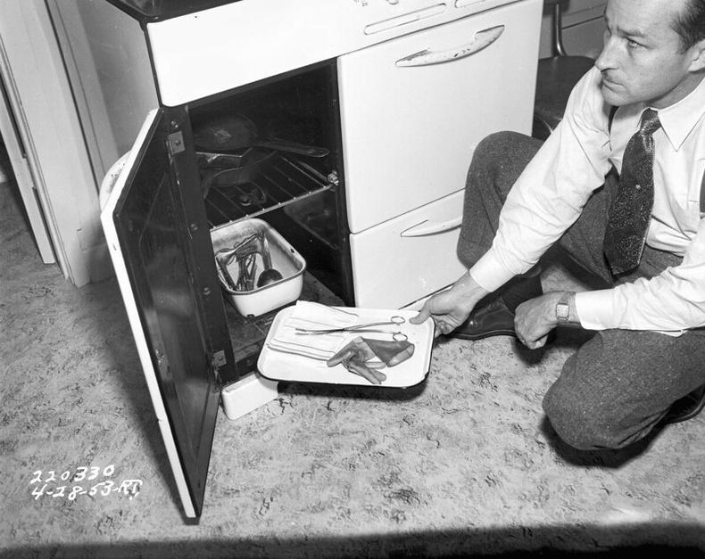 Хууль бус аборт хийдэг газарт хийгдэж буй мөрдлөг, 1953 оны 4р сарын 23