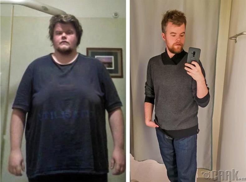 2.5 жилийн дотор 32 кг хасаж чадсан залуу