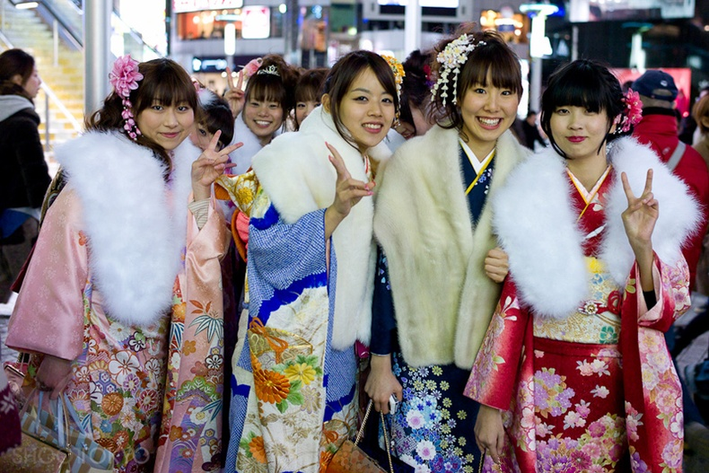 Япон охидын насанд хүрсний баяр