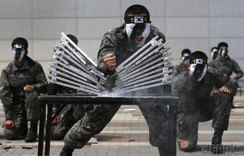Өмнөд Солонгосын тусгай ангийн терроризмын эсрэг бэлтгэл