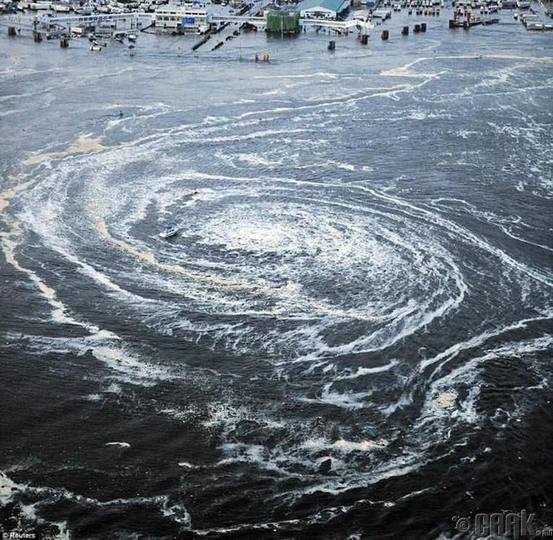 Японд цунамигийн дараа хүчтэй эргүүлгүүд үүссэн нь