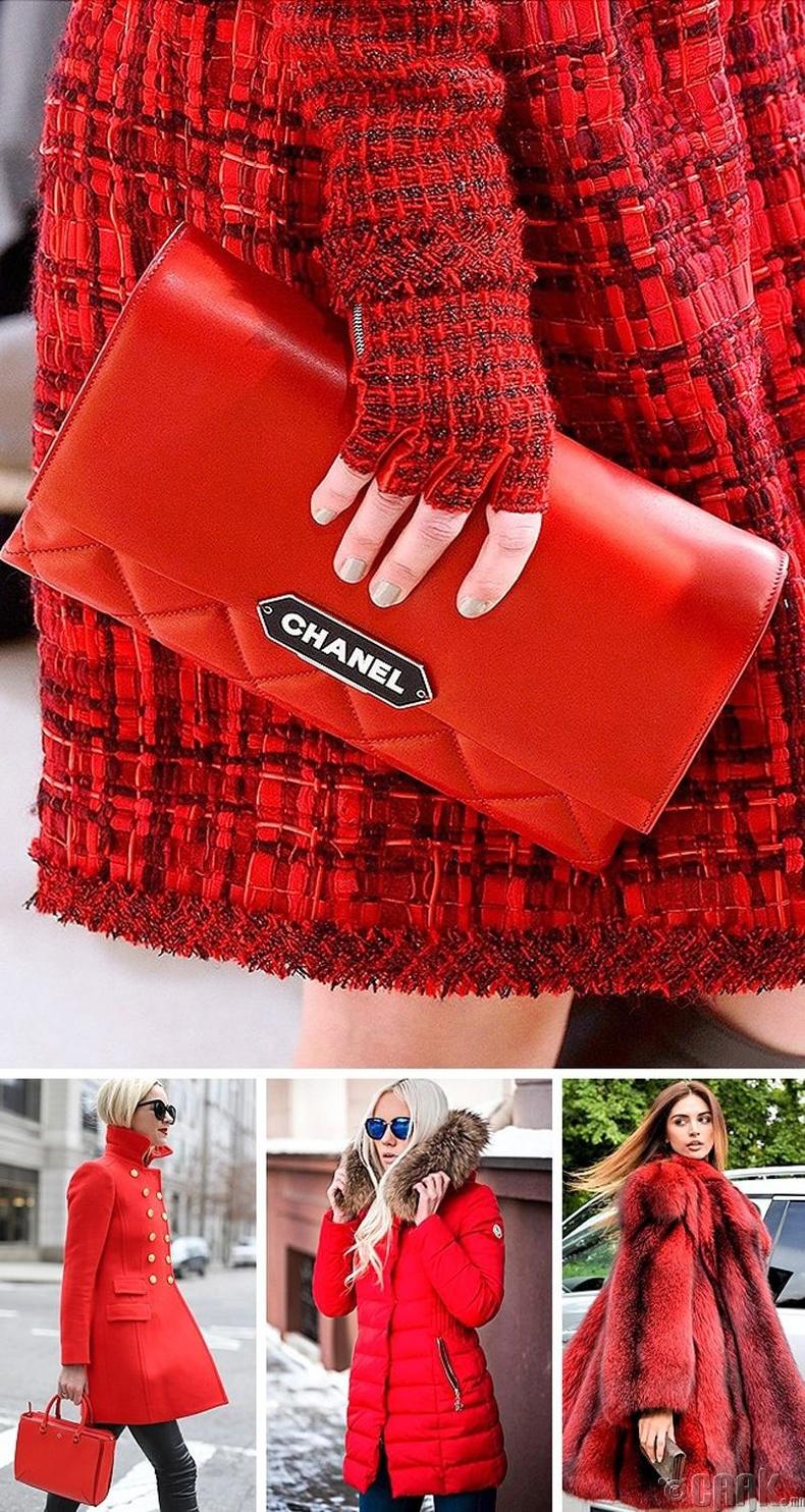 Улаан өнгийн хувцас