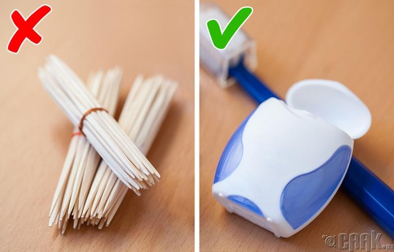 Шүдний чигчлүүр хэрэглэх