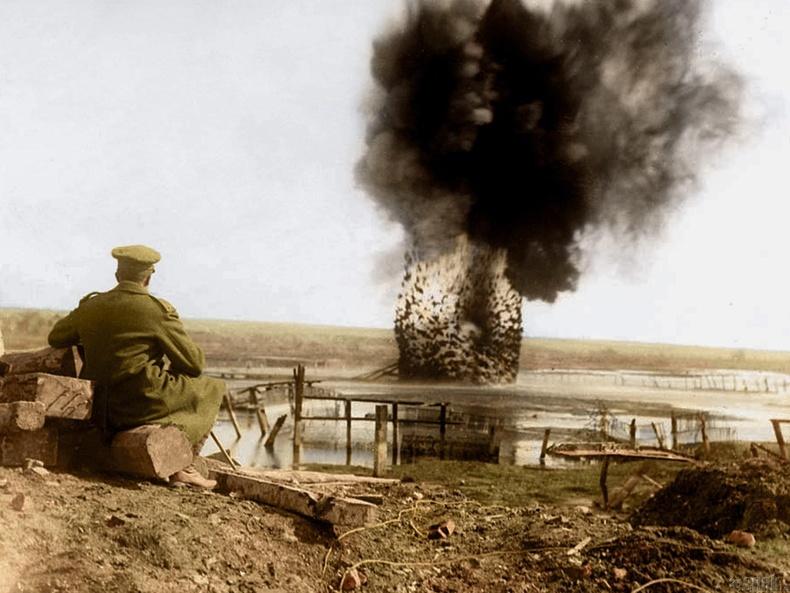 Дайны гол тулгаралтууд болсон Сомме голын эрэг дээрх дэлбэрэлт