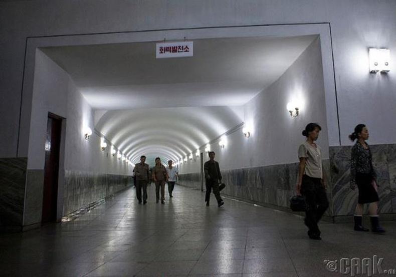 Пхеньян дах метроны буудлын хонгил -2012 он