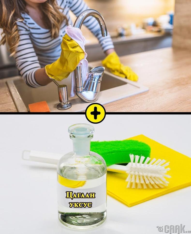 Уксусыг усны цорго болон стакан цэвэрлэхэд ашиглая