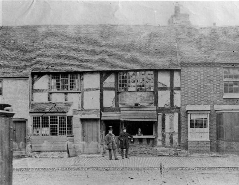 Английн зохиолч Уильям Шекспирийн төрсөн байшин, Стратфорд-апон-Авон хот - 1850 он
