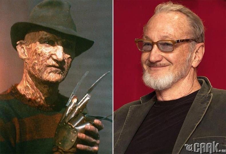 """A Nightmare on Elm Street"" киноны Фредди Крюгер (1984) - Роберт Инглунд (Robert Englund)"