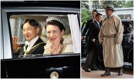 Японы шинэ эзэн хааныг сэнтийд нь залах ёслолын торгон агшнууд (Хүндэт зочдын гоёл)