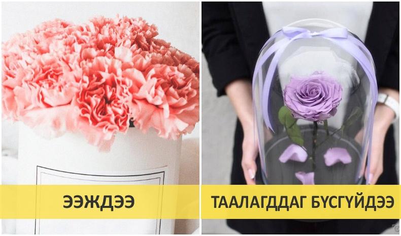 Эмэгтэй хүнд цэцэг өгөхдөө анхаарах зүйлс