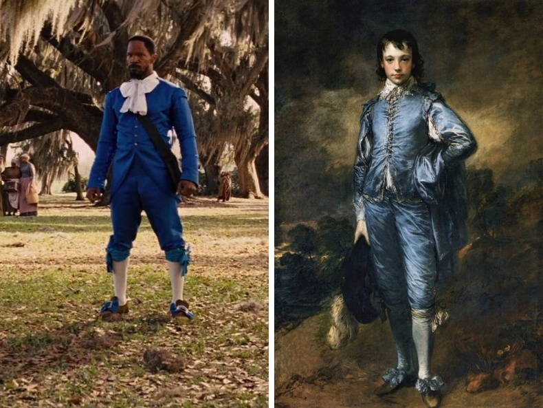 """""""Django Unchained"""" (2012), найруулагч Квентин Тарантино - """"Цэнхэр хувцастай хүү"""", зураач Томас Гансборо, 1770"""
