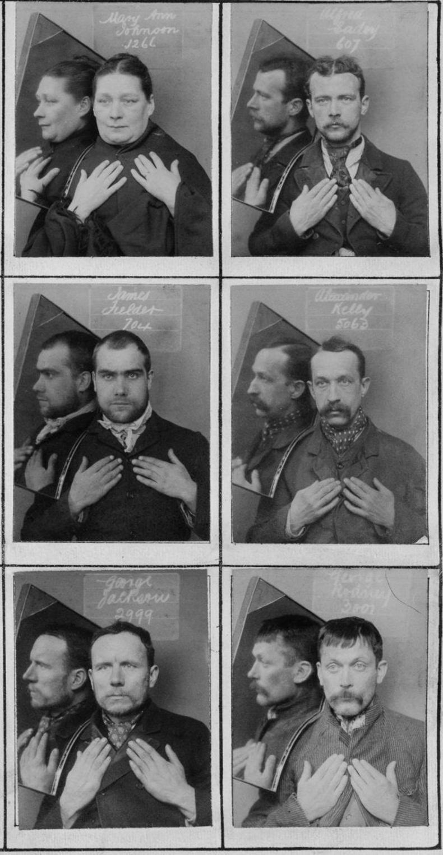 1890-ээд онд баривчлагдсан хүмүүсийн зургийг ийнхүү авдаг байжээ