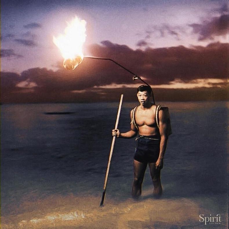 Шөнийн загасчлал, Хавай, 1948 он.