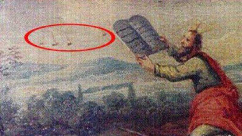 Эртний зургууд дээрх үл мэдэгдэх нисдэг биетүүд