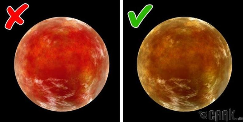 Ангараг гараг улаан өнгөтэй байдаг