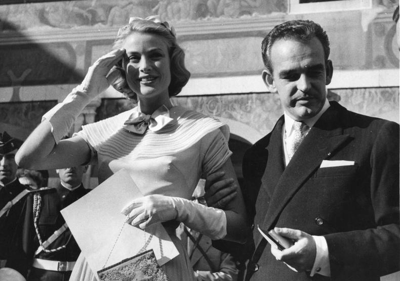 Монакогийн ханхүү Ренье III болон Грейс Келли, 1956 он.