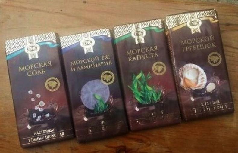 Далайн амт бүхий шоколад