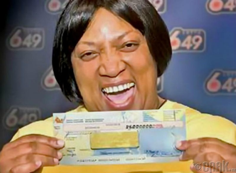 Эвелин Адамс хонжворын бүх мөнгөө казинод алдсан