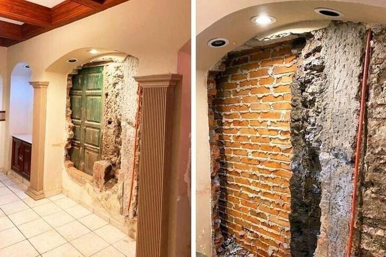 """""""Найзууд маань 10 жил амьдарсан байшиндаа засвар хийхээр шийдэж, хана нурааж яваад хаалга олсон юм. Харин хаалганы цаана тоосго байсан. Одоо цааш юу гарч ирэх бол гэхээс айж байна."""""""