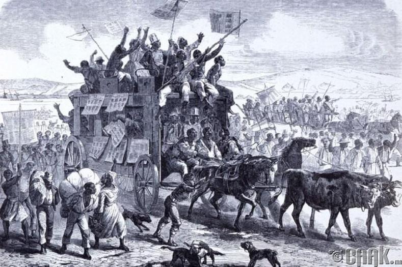 Эрх чөлөөний тунхаглал боолчуудын нэг хэсгийг л чөлөөлсөн