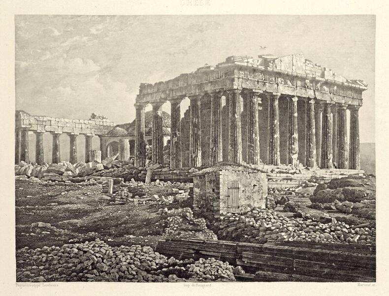 Партенон, 1839 онд