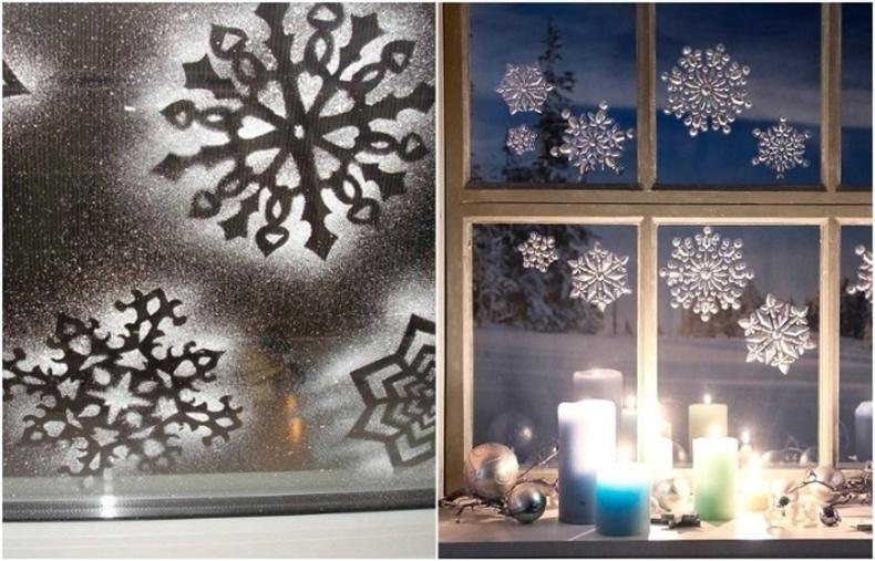 Цонхон дээрх цасан ширхгүүд