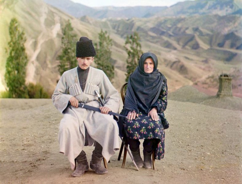 Дагестан залуу ээжтэйгээ - 1910 он