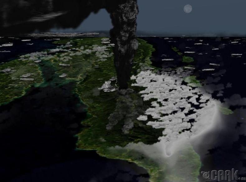 Тоба галт уулын супер дэлбэрэлт