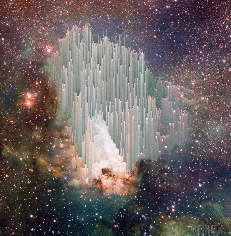"""""""Hubble"""" телескопоор авсан оддын дундах диваажингийн зураг"""